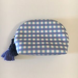 J.Crew Gingham Makeup Pouch